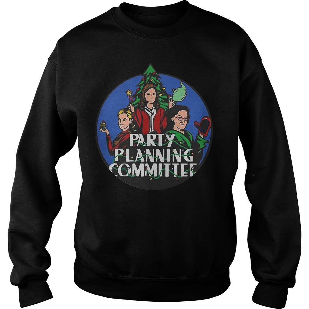 Christmas tree Pam Phyllis and Angela Party planning committee Sweater