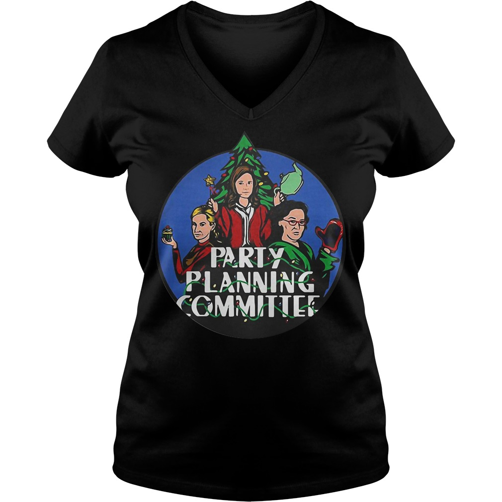 Christmas tree Pam Phyllis and Angela Party planning committee V-neck t-shirt