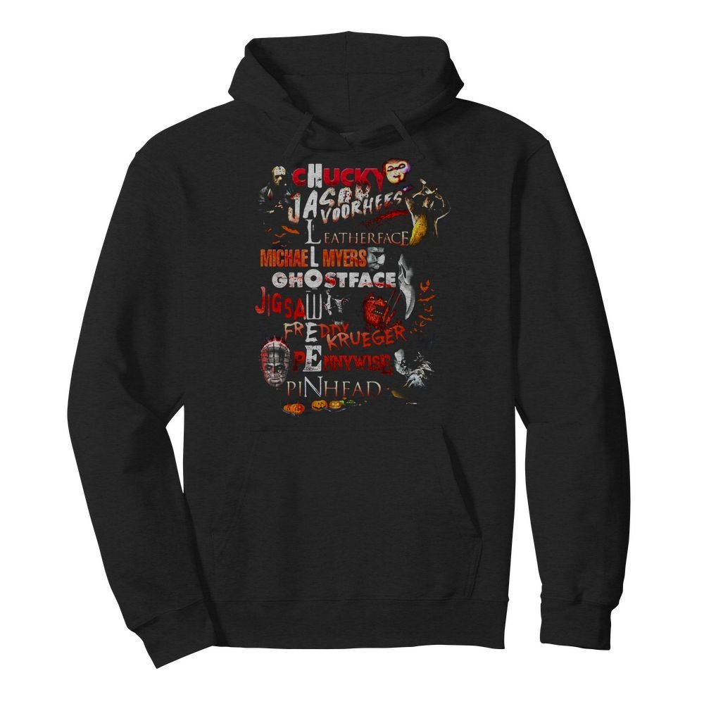 Chucky Jason Voorhees Leatherface Michael Myers Ghostface Hoodie