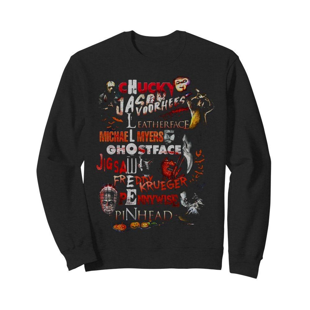 Chucky Jason Voorhees Leatherface Michael Myers Ghostface Sweater