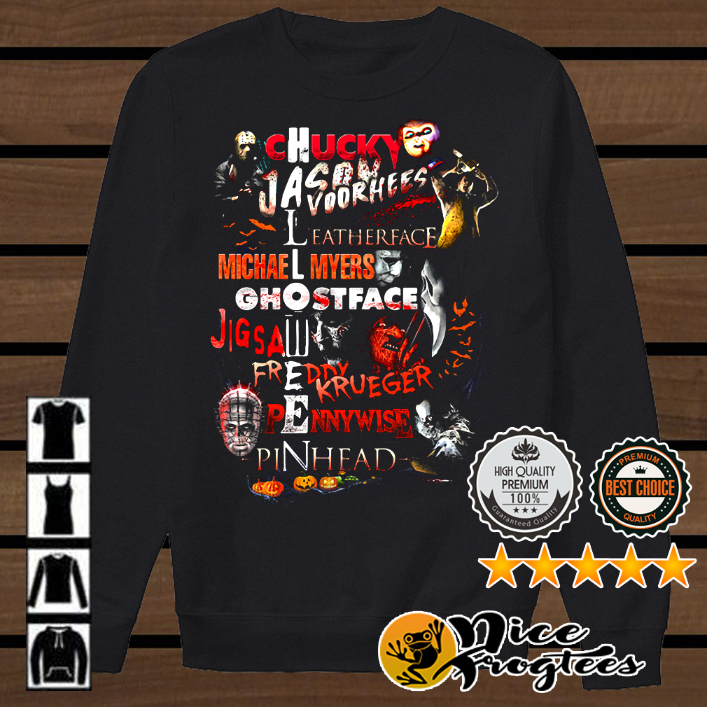 Chucky Jason Voorhees Leatherface Michael Myers Ghostface shirt