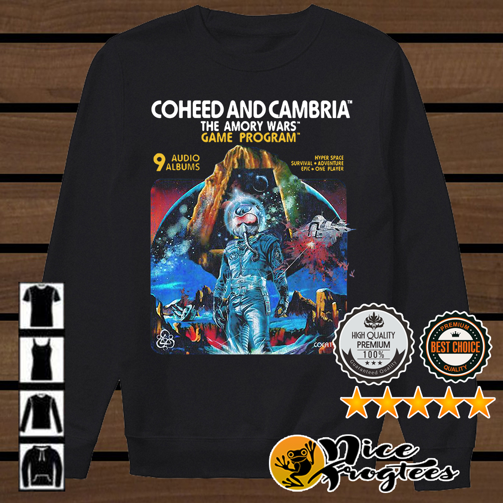 Coheed and Cambria The Amory Wars Game Program 9 audio shirt