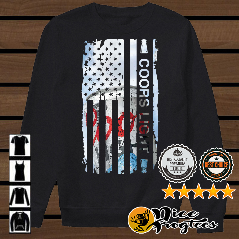 Coors Light America flag shirt