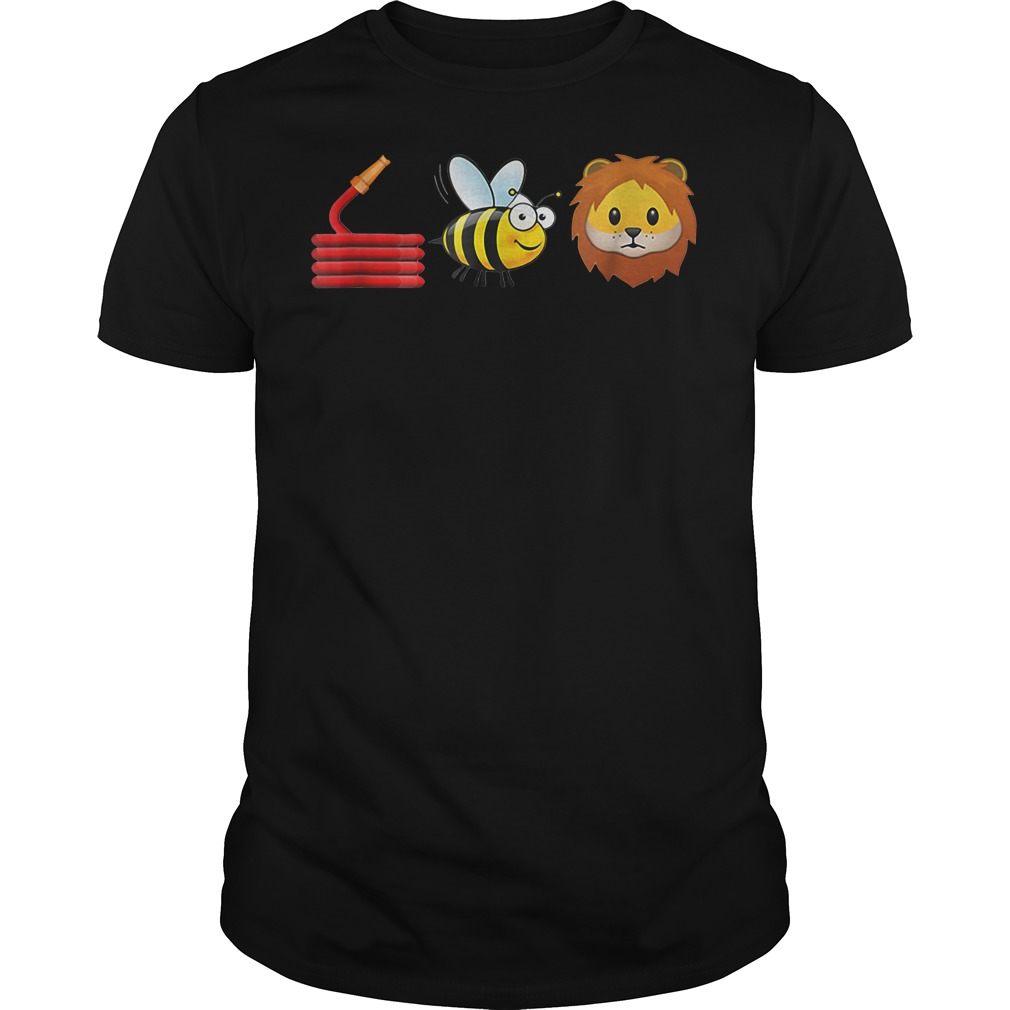 Cute Hose Bee and Lions Guys shirt