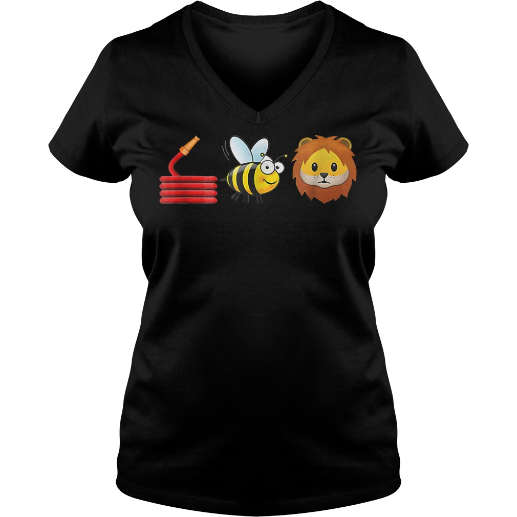 Cute Hose Bee and Lions V-neck t-shirt