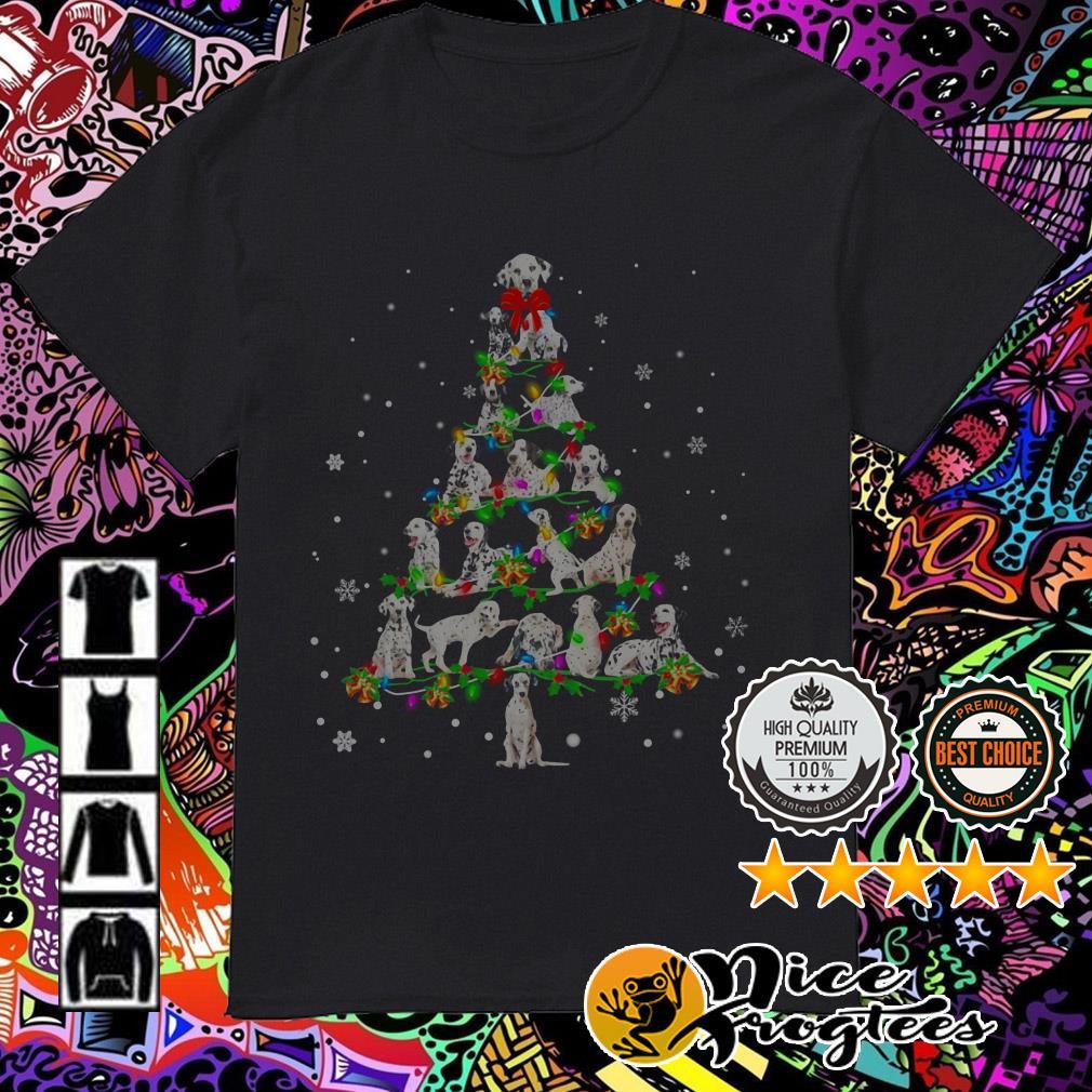Dalmatian Light Christmas tree shirt