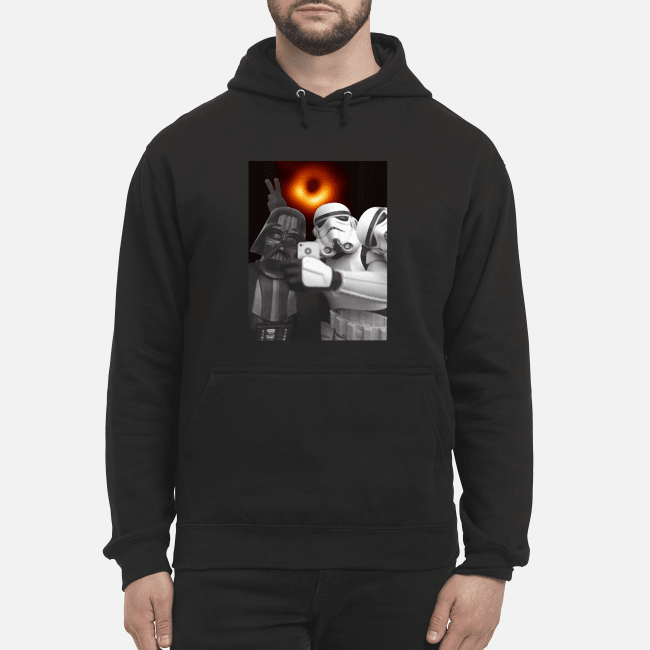 Darth Vader and Stormtroopers selfie with Black hole Hoodie