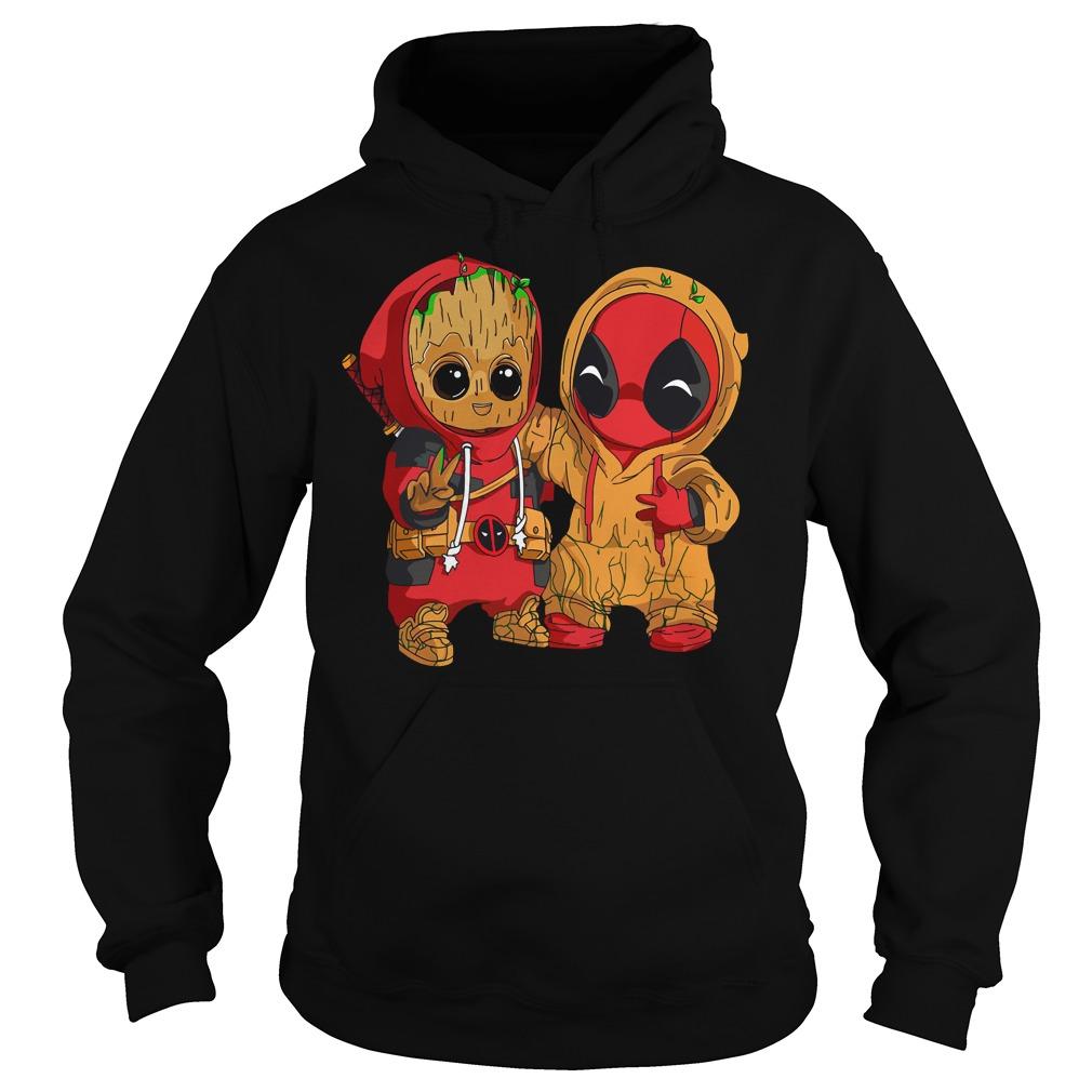 Deadpool and baby Groot Hoodie