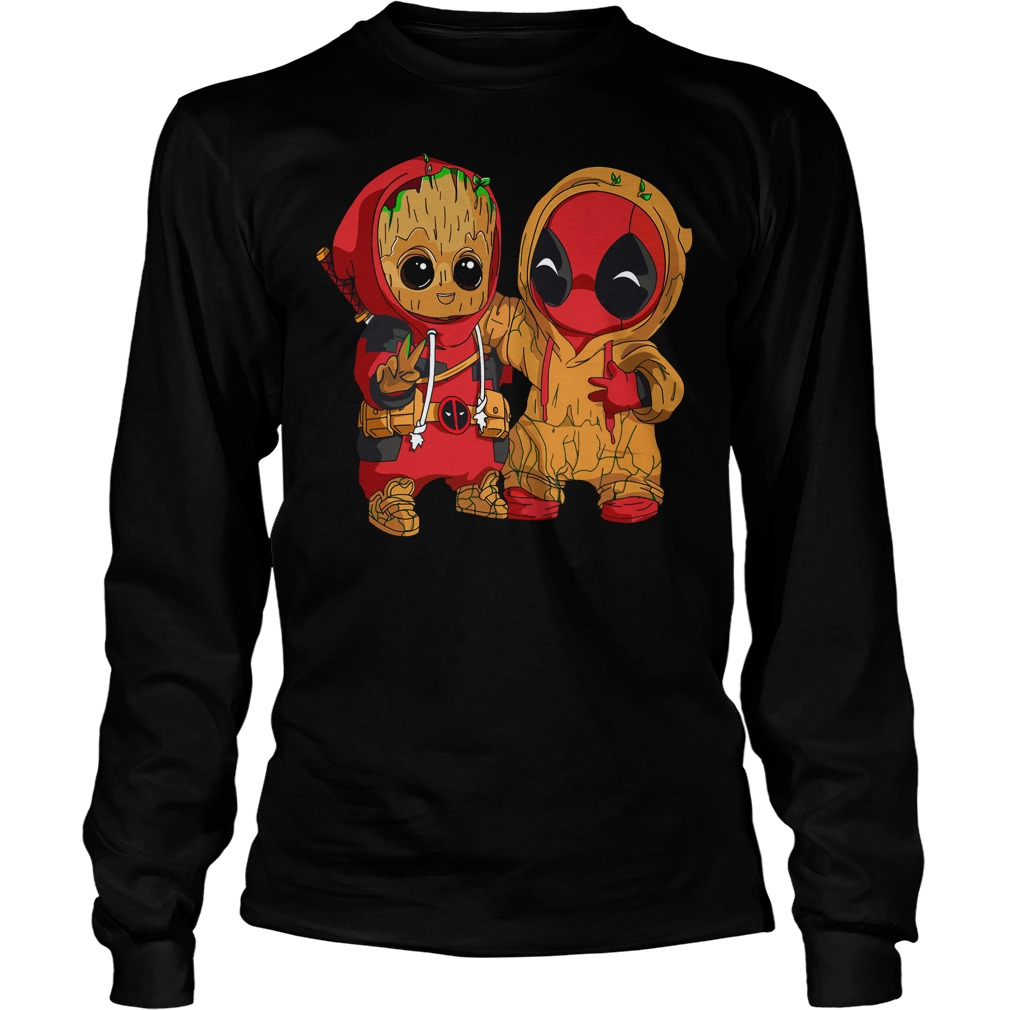 Hoodie Tee Groot Shirt Sweater Longsleeve Deadpool Baby And Xqw0vSg