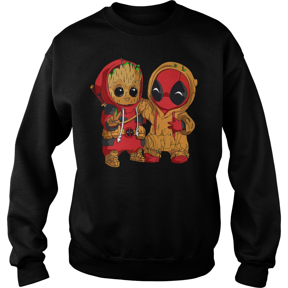 Deadpool and baby Groot sweater