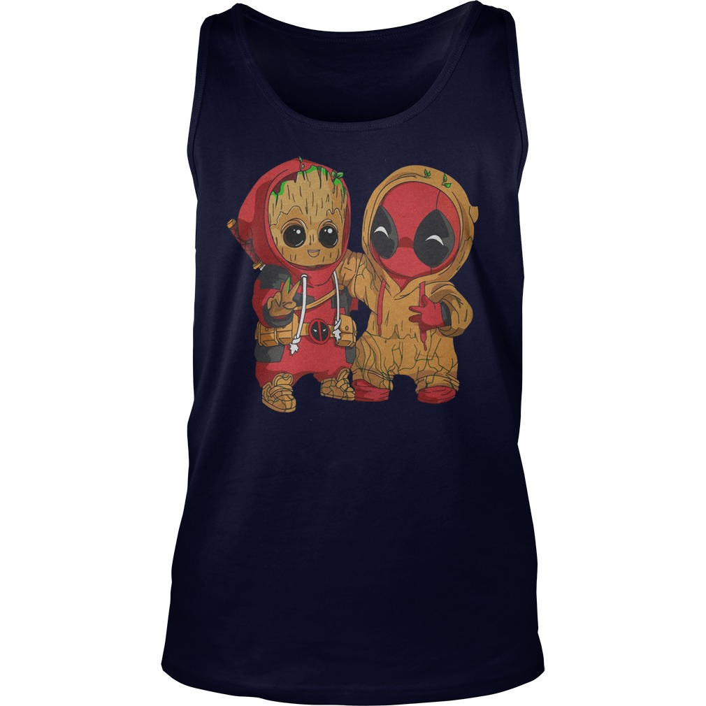 Deadpool and baby Groot Tank Top