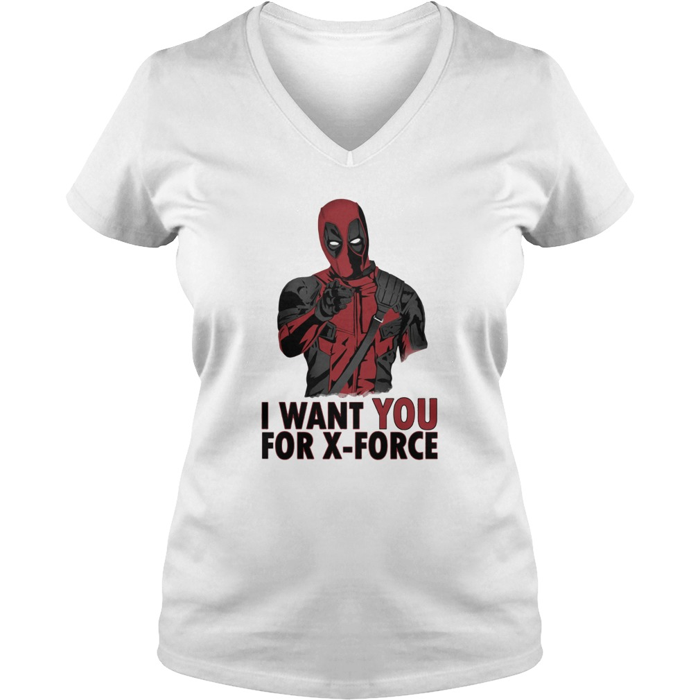 Deadpool Join Us I want you for X-Force V-neck t-shirt