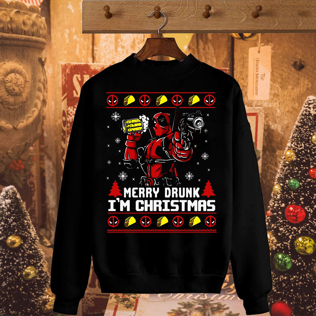 Deadpool merry drunk I'm Christmas sweater