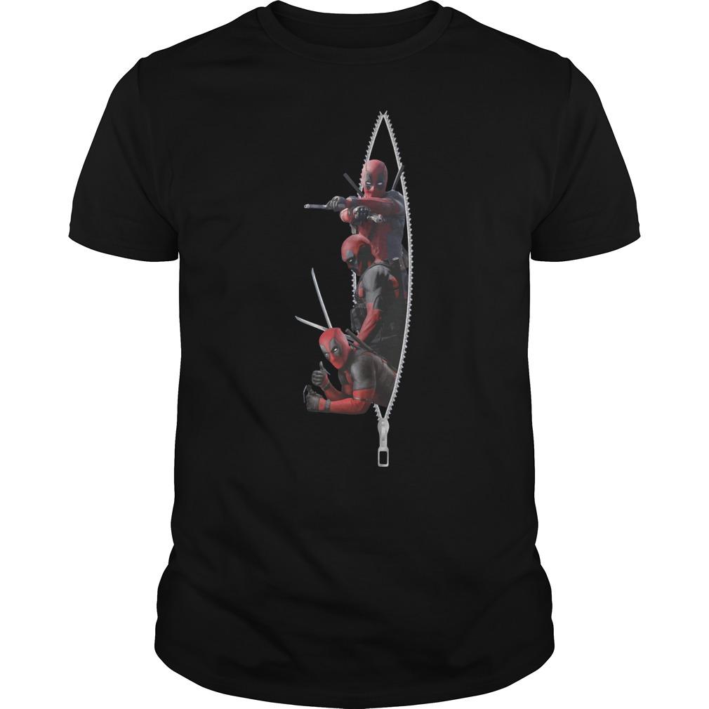 Deadpool zipper shirt