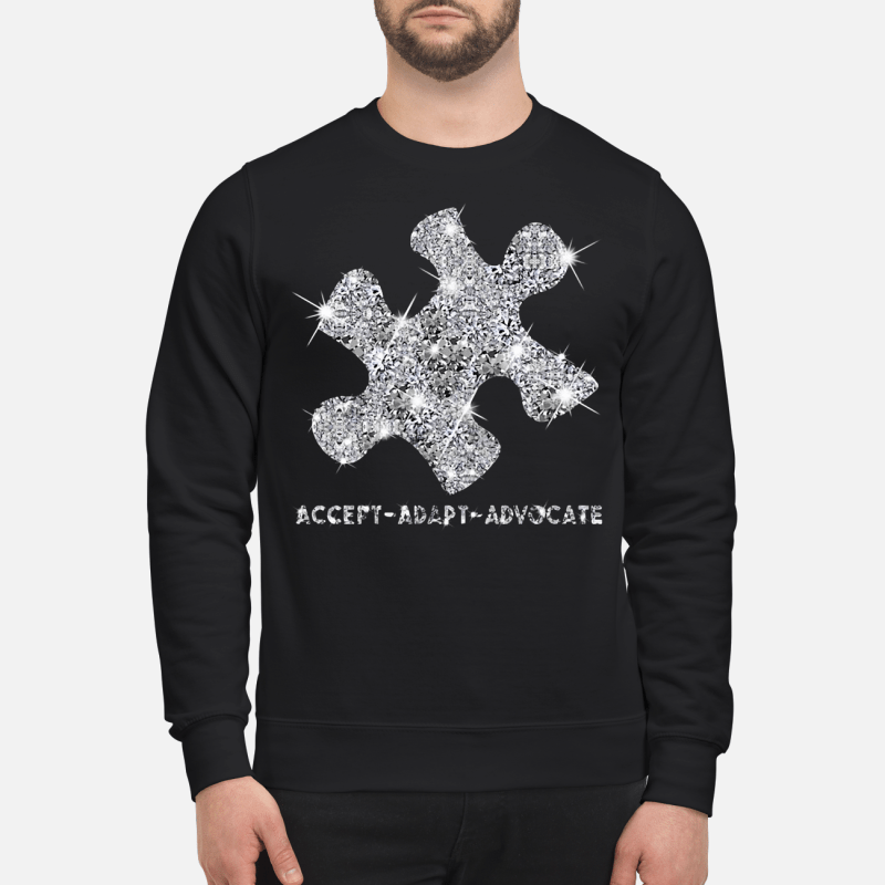 Diamond glitter puzzle Autism Accept Adapt Advocate Sweater