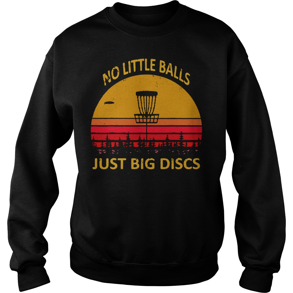 Disc golf no little balls just big discs retro Sweater