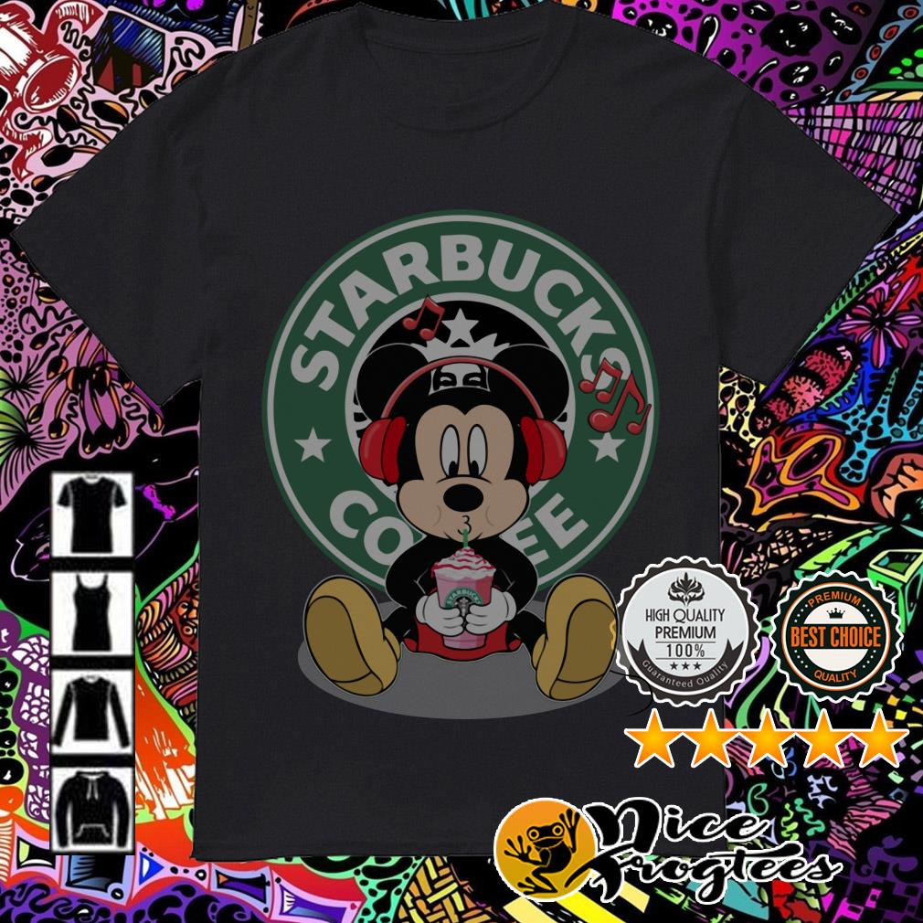 Disney Mickey Mouse Drinking Starbucks Coffee shirt
