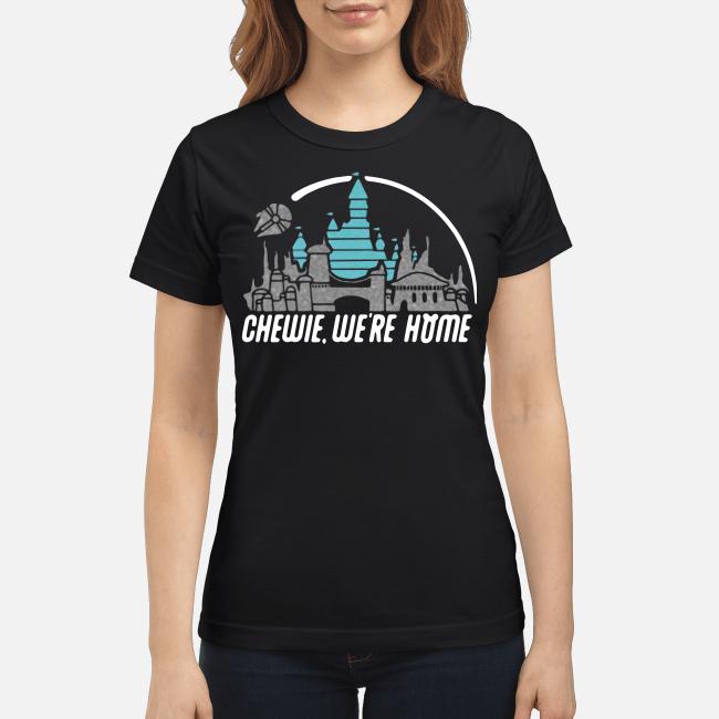 Disney Star Wars Chewie we're home Ladies tee