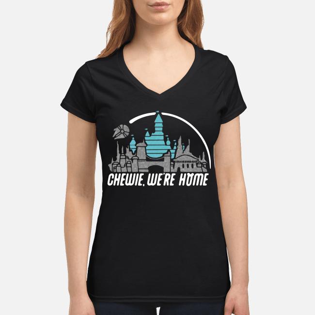 Disney Star Wars Chewie we're home V-neck t-shirt