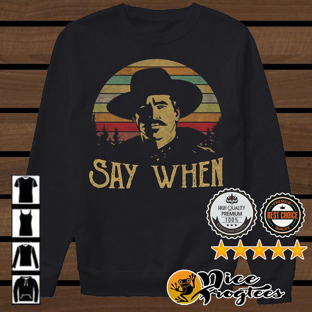 Doc Holliday say when retro shirt