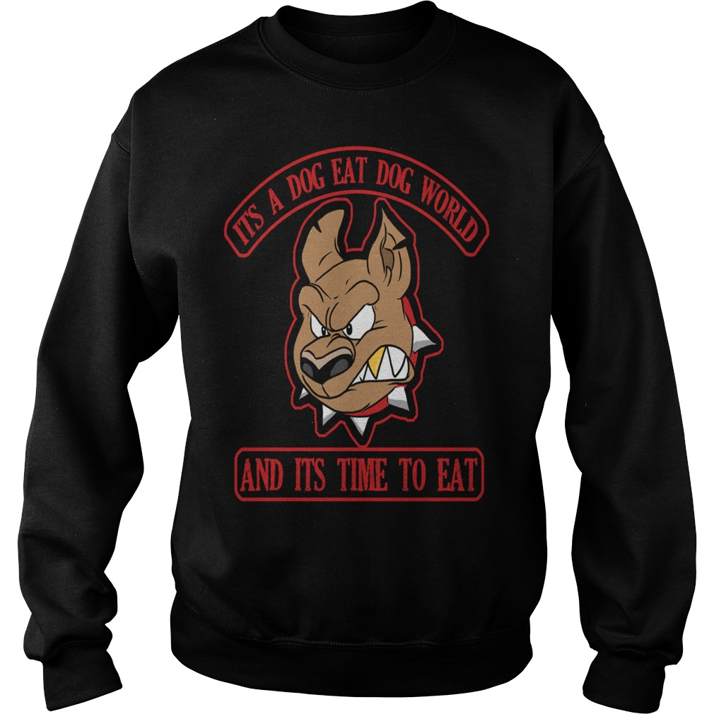Dog eat dog world logo merry christmas dog sweater