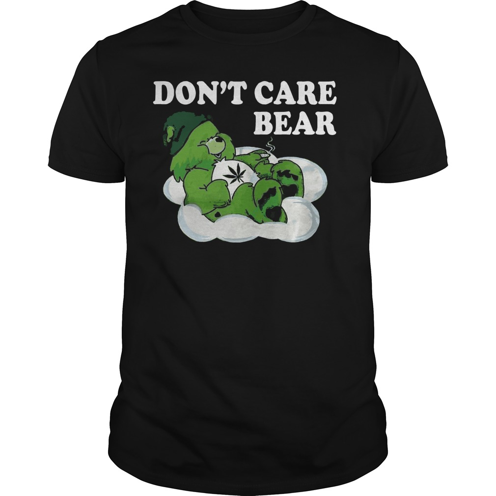 Don't care bear St Patrick's Day Guys shirt