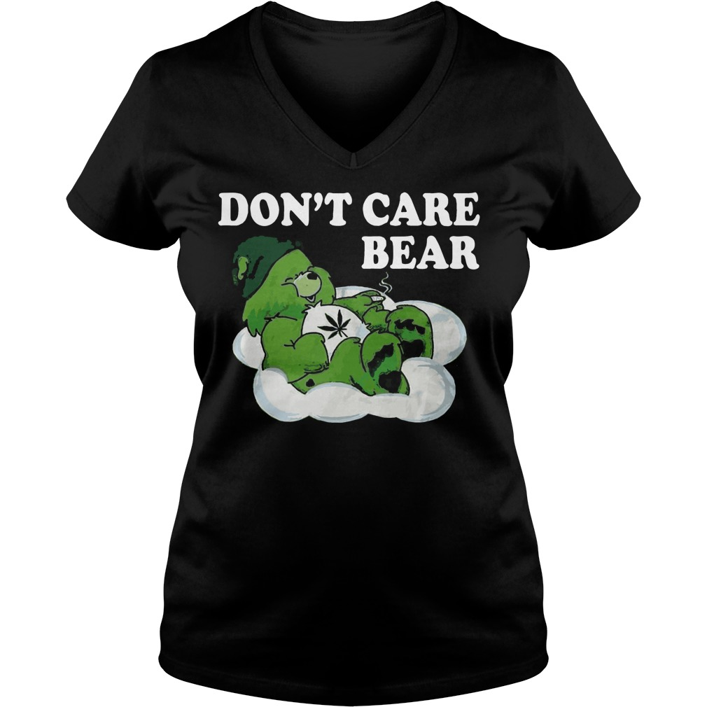 Don't care bear St Patrick's Day V-neck t-shirt