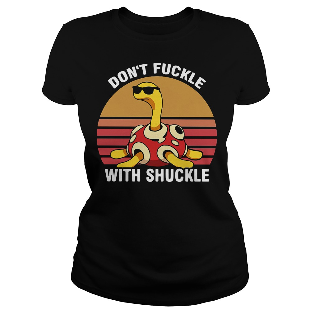 Don't fuckle with Shuckle Pokemon retro Ladies tee