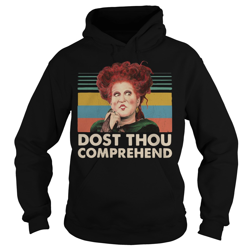 Dost thou comprehend Hocus Pocus Halloween retro Hoodie