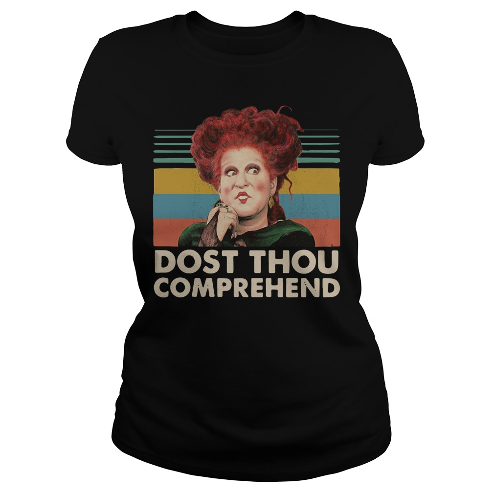 Dost thou comprehend Hocus Pocus Halloween retro Ladies tee