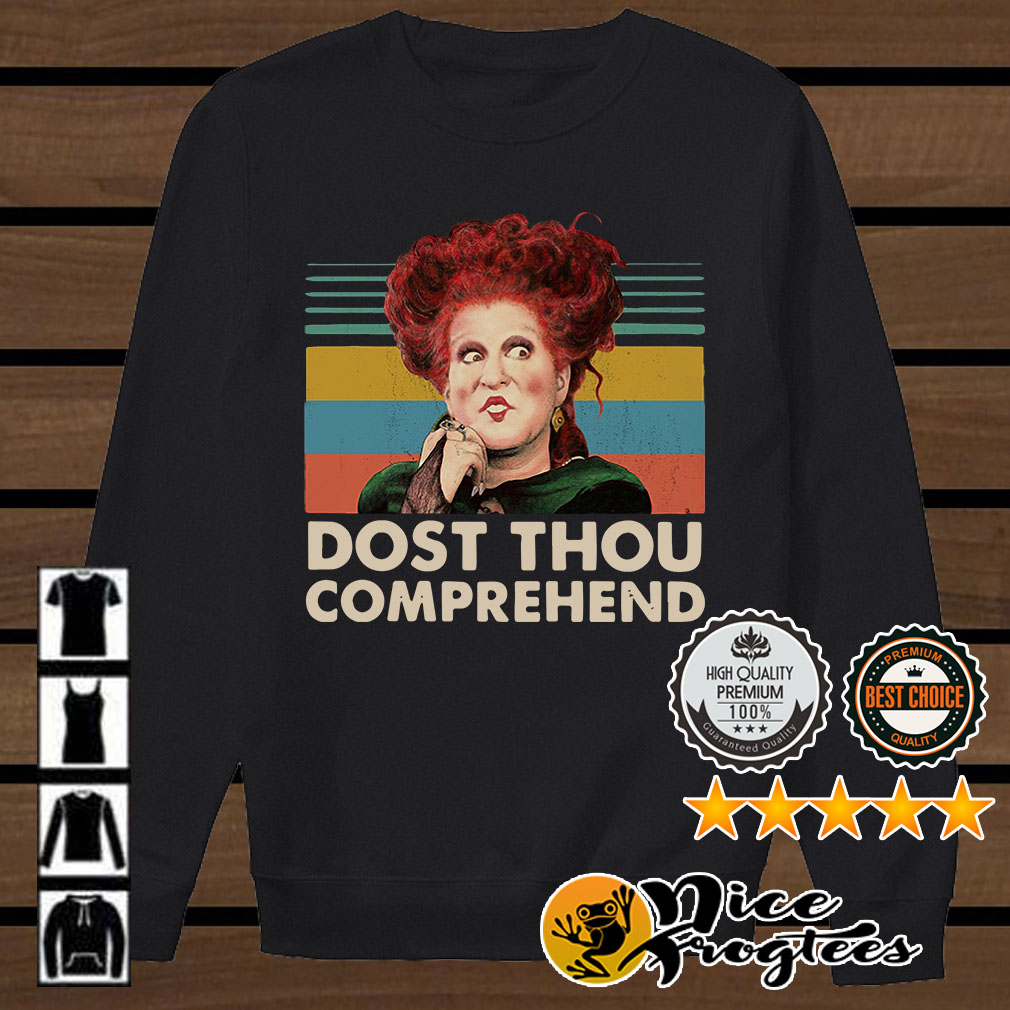 Dost thou comprehend Hocus Pocus Halloween retro shirt