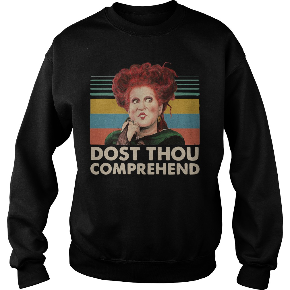 Dost thou comprehend Hocus Pocus Halloween retro Sweater