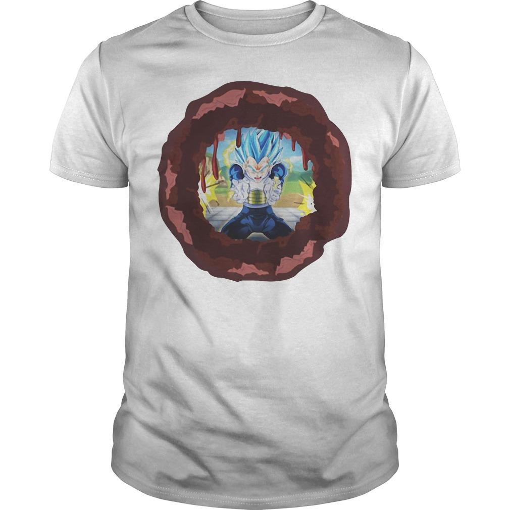 Dragon Ball Vegeta Kamehameha cross the body shirt, hoodie, sweater