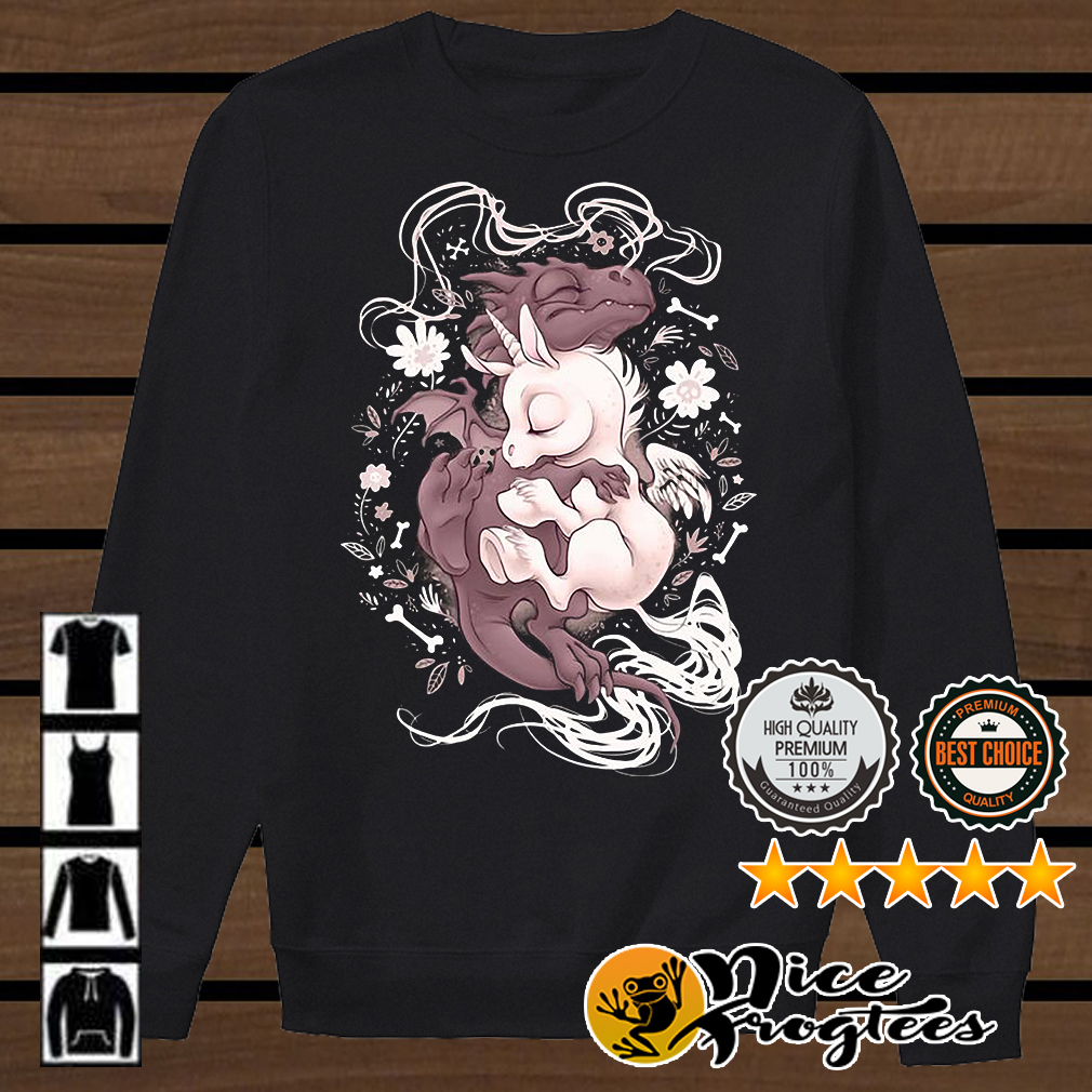 Dragon hugging Unicorn shirt