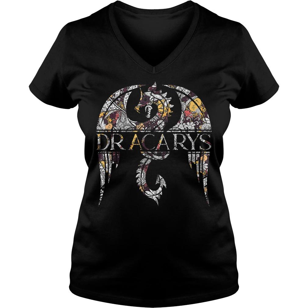 Dragons lover Dracarys Game of Thrones vintage V-neck t-shirt