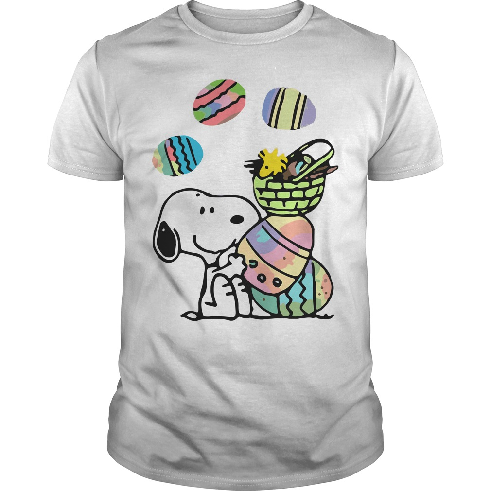 Snoopy and easter eggs Guys shirt