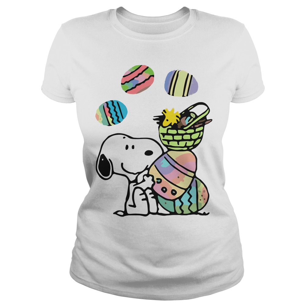Snoopy and easter eggs shirt