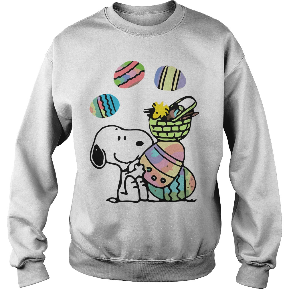 Snoopy and easter eggs Sweater