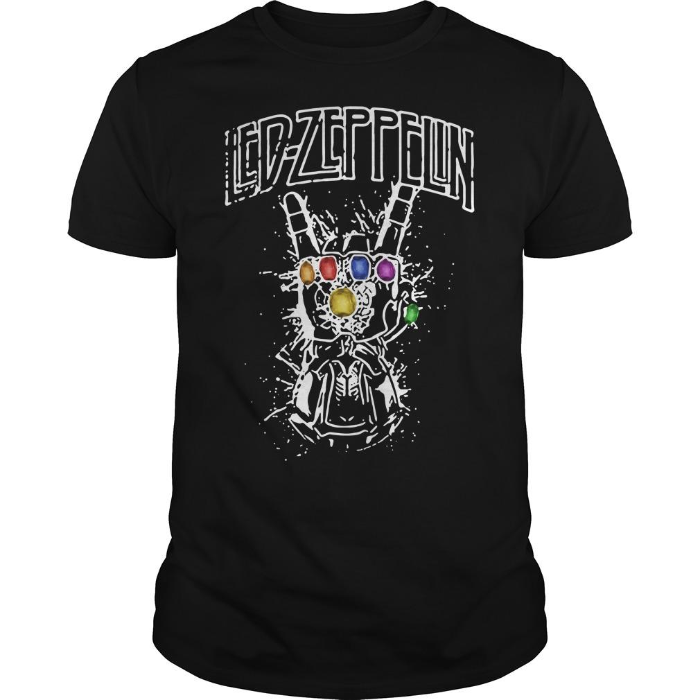 Ed Zeppelin Avengers Infinity War Thanos Gauntlet Hand shirt