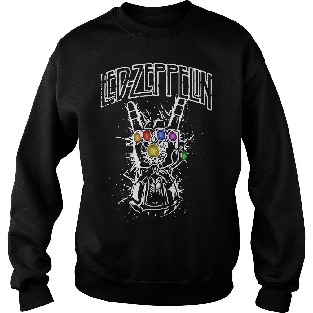 Ed Zeppelin Avengers Infinity War Thanos Gauntlet Hand Sweater