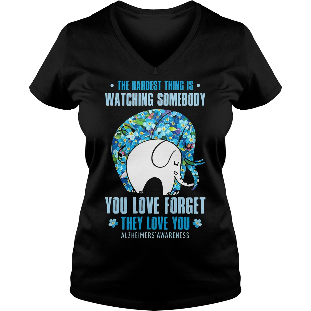 Elephant - the hardest thing is watching somebody you love forget V-neck T-shirt