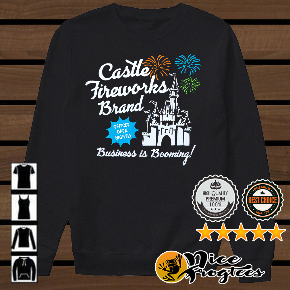 Fantasyland Castle fireworks brand business is booming shirt