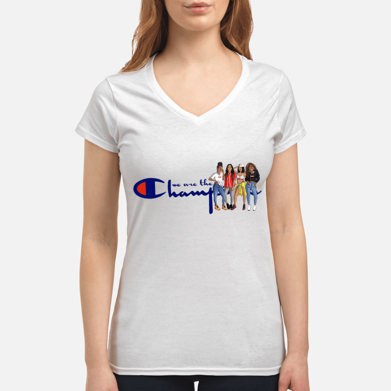Fifth Harmony we are the champion V-neck t-shirt