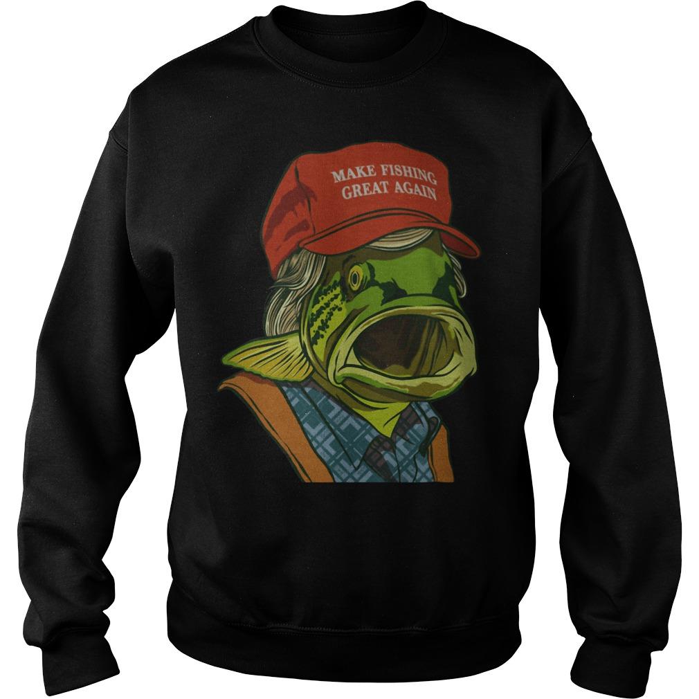 Fish's red cap Make fishing great again Sweater