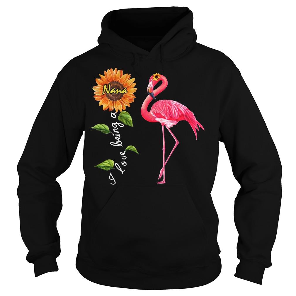 Flamingo sunflower I love being a Nana Hoodie