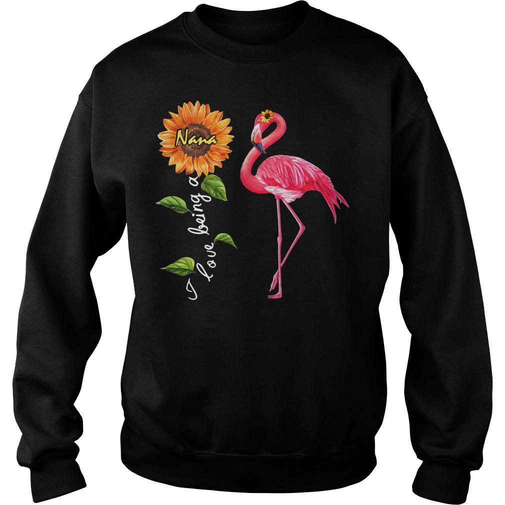 Flamingo sunflower I love being a Nana Sweater