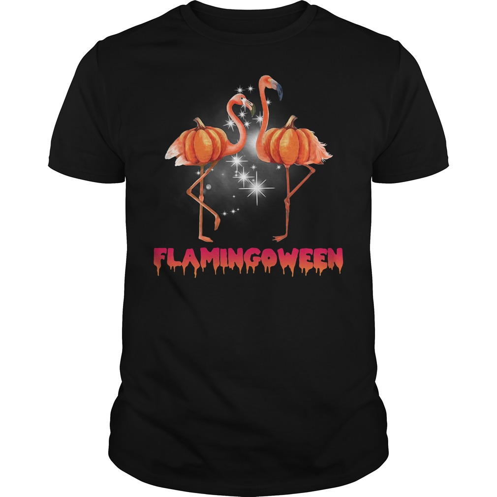 Flamingoween pumpkin Flamingo halloween Guys Shirt