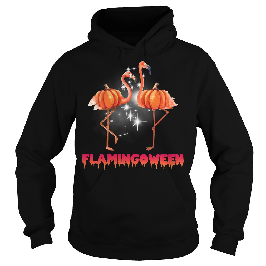 Flamingoween pumpkin Flamingo halloween Hoodie