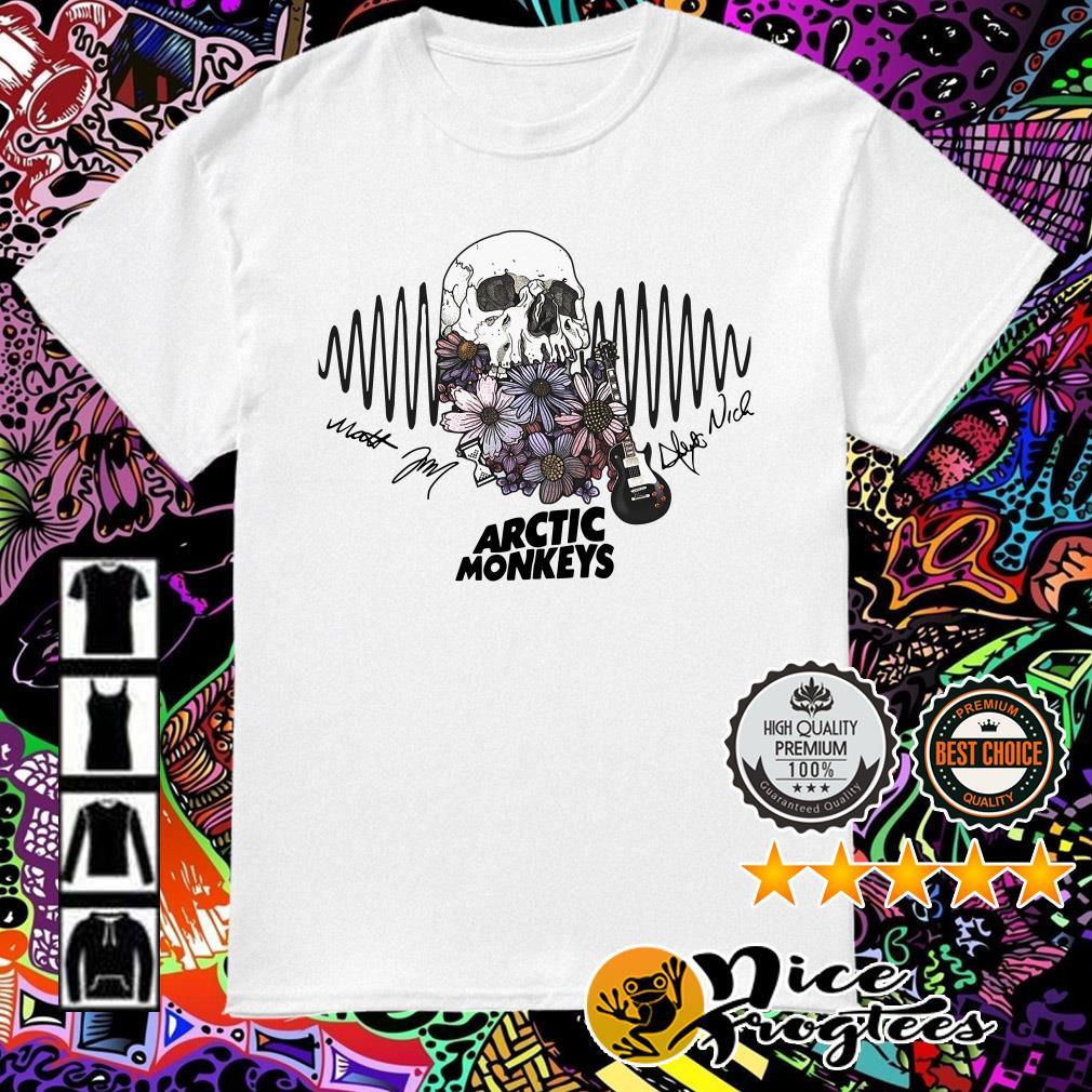 Floral Skull Arctic Monkeys signature shirt