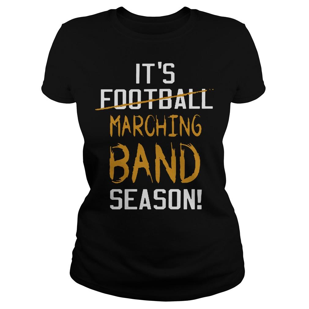 It's football marching band season Ladies Tee